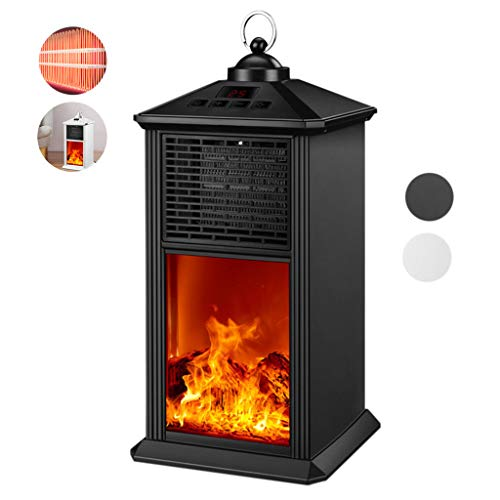 QNQ LTABC Elektro-Kamin Infrarot-Kaminofen 900w Tragbarer Elektro-Kaminofen Für Den Innenbereich Mit Realistischer 3D-Flammen-Fernbedienung 12H-Zeitfunktion 1 Sekunde Hitze