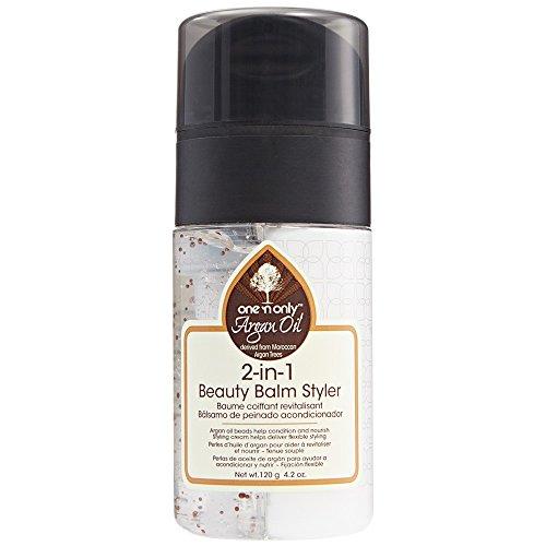 One 'n Only Argan Oil 2-in-1 Beauty Balm Styler, 4 Ounce