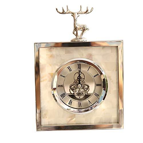 JCOCO Cerf Créatif Horloge De Table Horloge De Table Modèle Décoration De La Maison Ornements (Couleur : A)