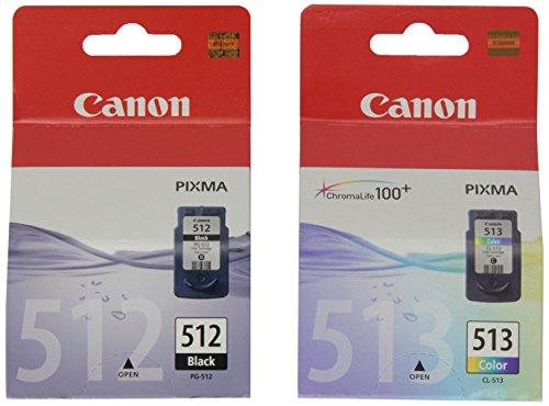 Canon PGI-512 BK / CL 513 Tintenpatronen, 2er Pack ( schwarz / farbig)