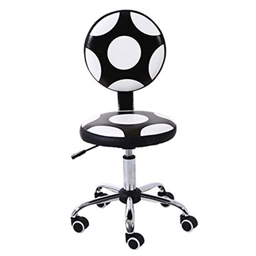 Sillas de escritorio para el hogar, la oficina, el hogar, el respaldo de dormitorio pequeño se puede elevar y bajar para el aprendizaje giratorio, taburete de fútbol, silla de oficina en casa