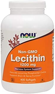Lecithin, 1200 mg, 400 Sgels by Now Foods (Pack of 3)