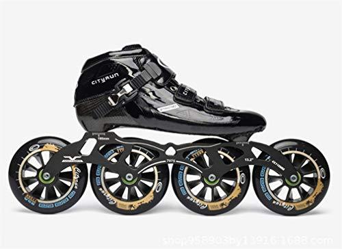 L-ELEGANT velocità in Linea Professionale Pattini Carbonio Inline Speed Skating Scarpe Adulti Bambino Inline Roller Skates Patins velocità Pattinaggio in Linea Black EU42