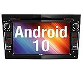 Vanku Android 10 Autoradio für Opel Radio mit Navi CD DVD Player Unterstützt Qualcomm Bluetooth 5.0 DAB+ WiFi 4G Android Auto 7 Zoll Bildschrim Schwarz