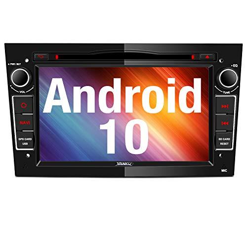 Vanku Android 10 Autoradio für Opel Corsa Astra Radio mit Navi DVD Player Unterstützt Bluetooth 5.0 DAB+ WiFi 4G USB CD MicroSD 7 Zoll Bildschrim Schwarz