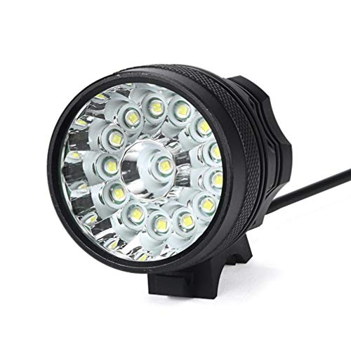 Linterna LED, Hanyixue 34000LM 14 x CREE XM-L T6 LED 6 x 18650 Ciclismo en bicicleta Ligero Lámpara impermeable Antorcha Negro