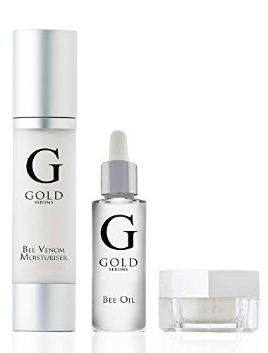 GOLD SERUMS Coffret Venin d'Abeille 3 Produits : sérum pour les yeux (8ml) Soin hydratant (50ml) huile pour visage (15ml)