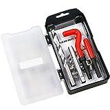 BestsQ Kit de réparation de filetage M12 x 1,0 mm Kit d'insertion de réparation de filetage métrique compatible Kit d'outils manuels pour réparation automatique (M12-1.0)