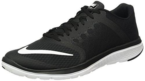 Nike Herren FS Lite Run 3 Laufschuhe, Schwarz Weiß Schwarz Weiß, 38.5 EU