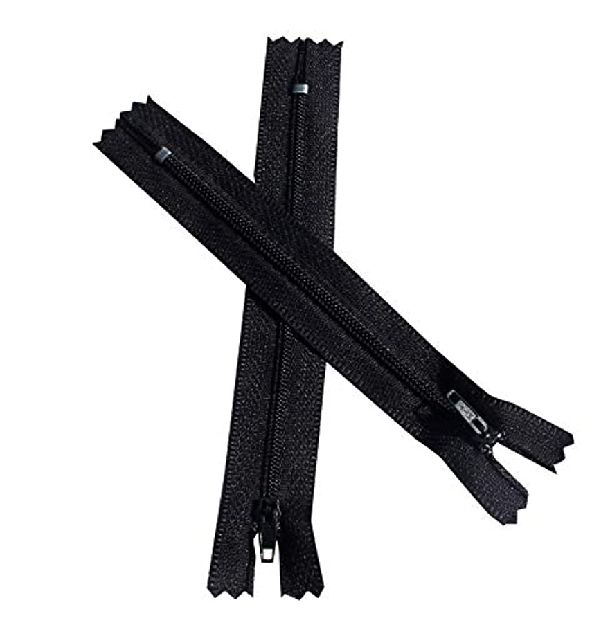 Full Funk Zip Brand MIT Zipper for Craft Projects - 5 inch Length - Black 12 pcs
