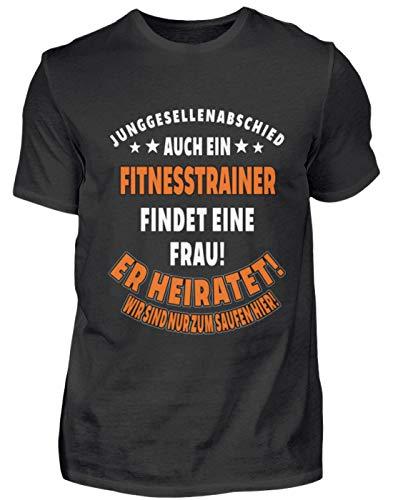 Camiseta de entrenamiento JGA boda de fitness, regalo profesional, divertida frase – Camiseta para hombre Negro XL