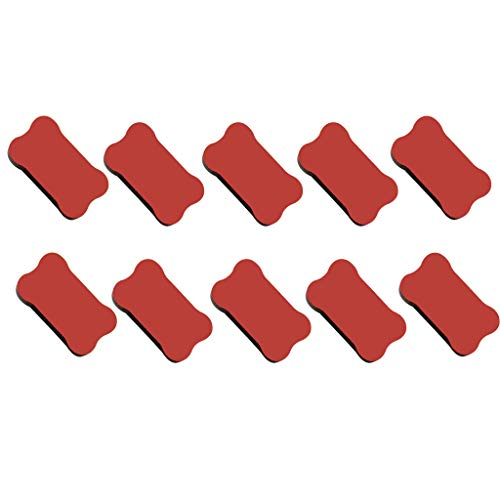 Luxeshion 10 Pack Magnetic Dry Eraser Whiteboard Erasers Chalkboard Cleaners Eraser Wipe for Classroom Home Office School Teacher
