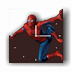 Original Handmade Wall Clock Spiderman 11.8 Get Unique décor for Home or Office – Best Gift Ideas for Kids, Friends, Parents and Your Soul Mates