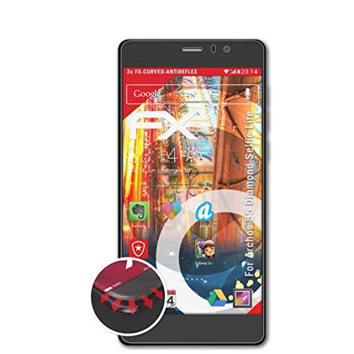 atFolix Schutzfolie kompatibel mit Archos 55 Diamond Selfie Lite Folie, entspiegelnde & Flexible FX Bildschirmschutzfolie (3X)