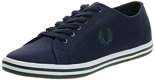 Fred Perry Kingston Twill Sneakers Hommes Blu - 41 - Sneakers Basse