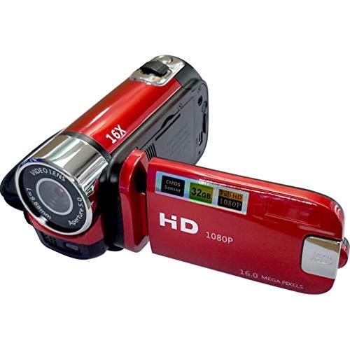 Videokamera Camcorder Digitalkamera Kamera Full HD 1080P Vlogging-Kamera 270 ° -Drehung Drehbarer Bildschirm Webcam-Funktion mit Batterien USB Ladegerät AV-Kabel YouTube B