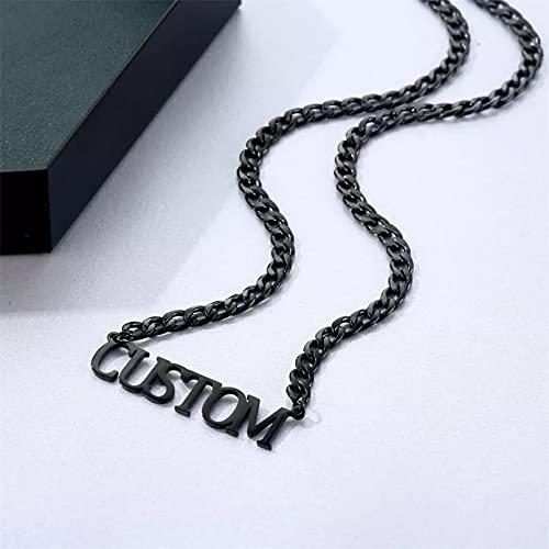 Collar Colgante Collares de acero inoxidable para hombres y mujeres collar de cadena cubano personalizado joyería colgante de Hip Hop Collar amistad Aniversario San Valentín Cumpleaños Regalo