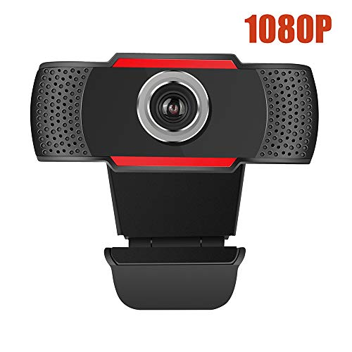 HD Usb Camera, Full Hd 1080P Video Calling USB Webcam Ingebouwde ruisonderdrukking Mic En Flexibele Draaibare Clip Compatibel voor Laptop PC Windows Etc