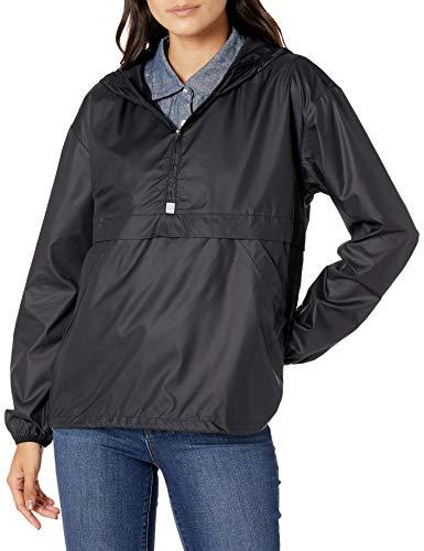 Amazon Essentials Pullover Packable Windbreaker Fashion-Sweatshirts, Schwarz, US M (EU M - L)