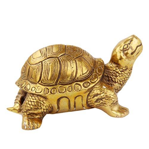 Fenteer Retro Chinesische Glück Figuren Statue Feng Shui Reichtum Glücksbringer - Schildkröte