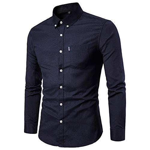 MUMU-001 Feitong mannen slim lange mouwen shirt casual feest shirt blouse top