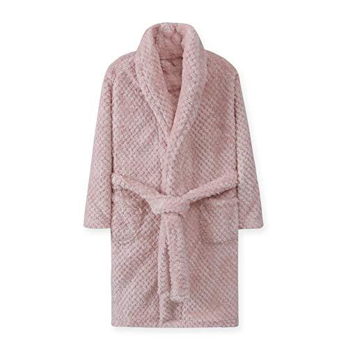 LEYUANA 4-18 Jahre Herbst Winter Bademantel, Kinder Nachtwäsche Robe Kinder Bad Robe warme weiche Pyjamas für Mädchen Junge Teenager Flanell Robe 12T rosa