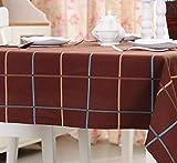 Mantel de algodón y lino lavable para cocina, resistente al calor, mesa de comedor, boda, decoración de Navidad, mesa de café, refrigerador, a prueba de polvo, rectangular, algodón Lino, Color:, 60 * 60CM (2)