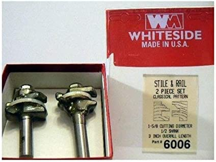 high quality Whiteside outlet online sale 6006 Classical high quality Stile & Rail Set 7/8CL 1/2SH 2FL outlet sale