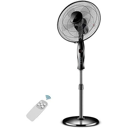 YEXINTMF Ventilador de pie/Ventiladores oscilantes Pedestal con Pedestal Remoto Control de Planta Ventilador, 3-Mode & 3Speed y 7h Temporizador, Negro