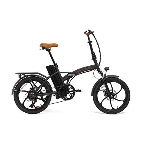 BIWBIK Bici elettrica Pieghevole Book (Book Sport 12Ah Nero)