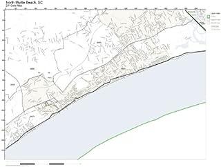 ZIP Code Wall Map of North Myrtle Beach, SC ZIP Code Map Laminated