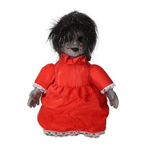 libelyef Halloween Puppen, Gruselige Requisite Induktion Gehen Besessene Puppe Mit Ton, Böser Horror Grimmige Puppe Halloween Kostüm Party Dekor Prop - Innen- Und Außendekorationen