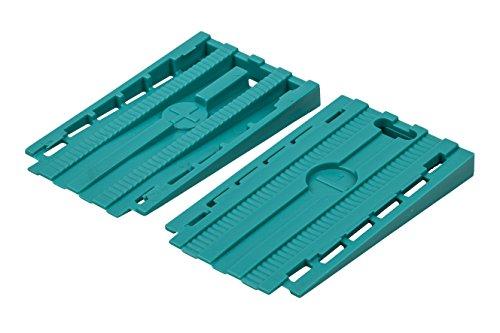 Wolfcraft 6946000 - Pack de 30 cuñas separadoras universales para suelo, turquesa