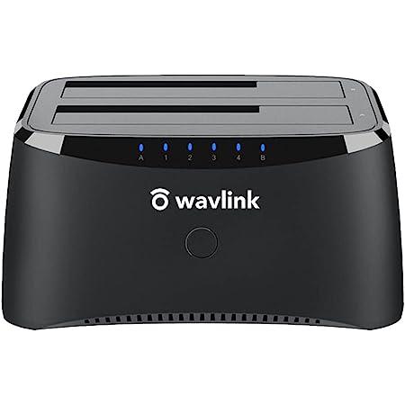 Wavlink USB3.0 HDDスタンド 2.5型 / 3.5型 SATA HDD/SSD対応 パソコン不要でHDDのまるごとコピー機能 16TB対応 オフラインクローン PSE認定APSE認定AC12V4A電源アダプター付