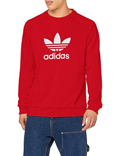 adidas Trefoil Warm-Up Crew, Felpa Uomo, Rosso (Lush Red), XL