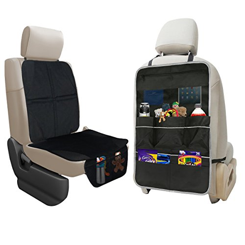 Backseat Car Organizer for Kids, Kick Mats Cover Car seat Protector fit for 10