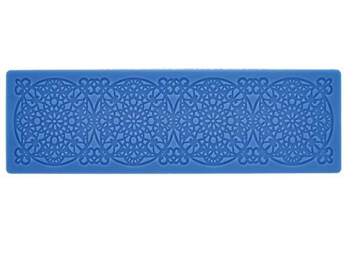 CREARTEC - universele decoratiemat/sjabloon - mandala - voor het maken van gedetailleerde, sierlijke motieven met bijv. Paperpasta of zeep - 210 x 65 mm - Made in Germany