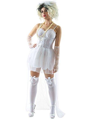 ORION COSTUMES Costume de déguisement de musique années 80 avec mariée pour femmes