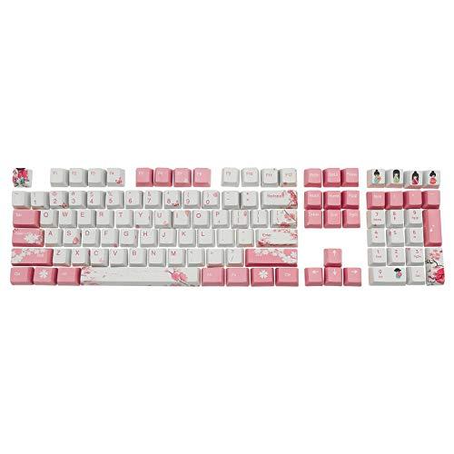 Keycaps, 104 Key OEM PBT Keycaps Farbstoffsublimation Cherry Blossom Theme Keycap Für Cherry Gateron Kailh Switch Mechanische Tastatur (Nur Keycaps