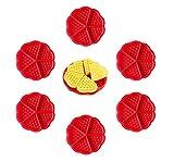 rosepartyh Stampo Waffle Stampi in Silicone Waffel Muffin Muffa Formine Mold 6 Pezzi