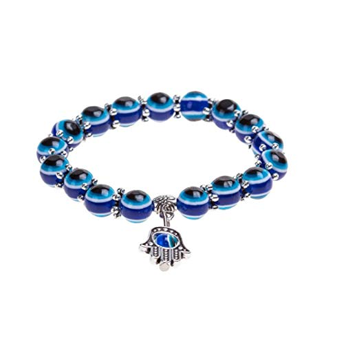 Naicasy Pulsera Pulsera del Encanto de los Ojos Azules Diseño cristalino de la Manera turca Ojo Suerte para Las Mujeres y los Hombres con Estilo único de la Cadena de Pulsera