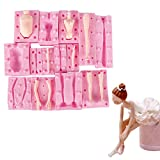 WYD 7 Set Men and Women Body Silicone Mold, 3D Human Arms and Legs Jelly Sugar Chocolate Fondant Molds,Doll Model Soap Wax Making Crafting,Cake Decorating Tools