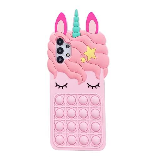 Samsung Galaxy Note 10 対応 可愛い ケース, CrazyLemon おしゃれ かわいい ピンク ユニコーン ポップ バブル デザイン ストラップ 付き ソフト シリコン ケース カバー 耐衝撃 全面保護 バンパー [Cute Pink Unicorn Case] - 02