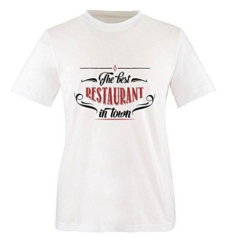 Comedy Shirts - The Best Restaurant in Town - Jungen T-Shirt - Weiss/Schwarz-Rot Gr. 122/128