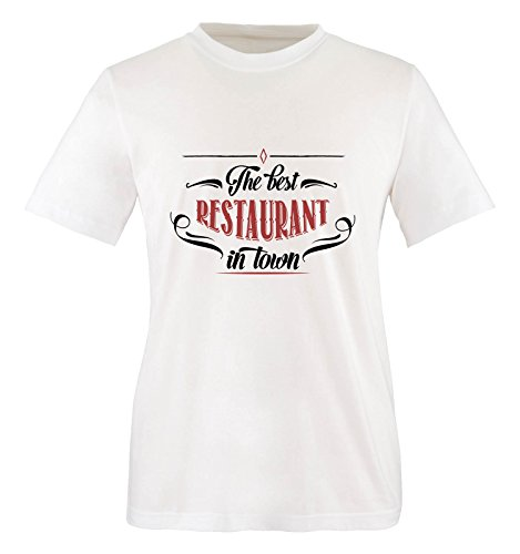 Comedy Shirts - The Best Restaurant in Town - Jungen T-Shirt - Weiss/Schwarz-Rot Gr. 122/128