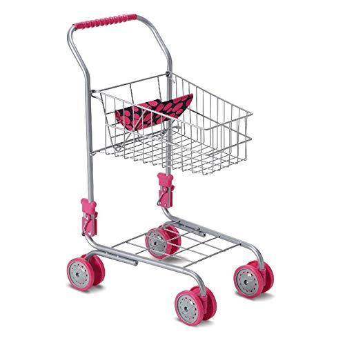 Moni Spielzeug Einkaufswagen 9328 Höhe 41,5 cm, Puppensitz, klappbar, ab 3 Jahre