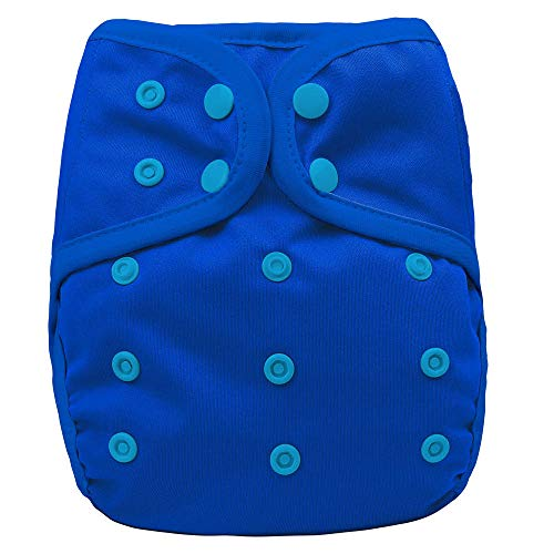 OsoCozy One Size Cloth Diaper Covers (Blue Berry) Adjustable Fit From 8-35 Pounds