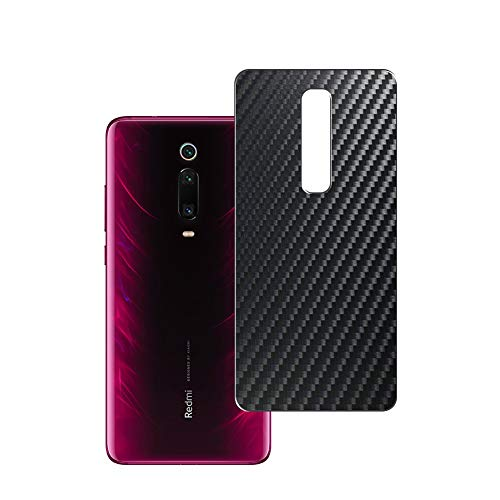 VacFun 2 Piezas Protector de pantalla Posterior, compatible con Xiaomi Redmi 9T, Película de Trasera de Fibra de carbono negra