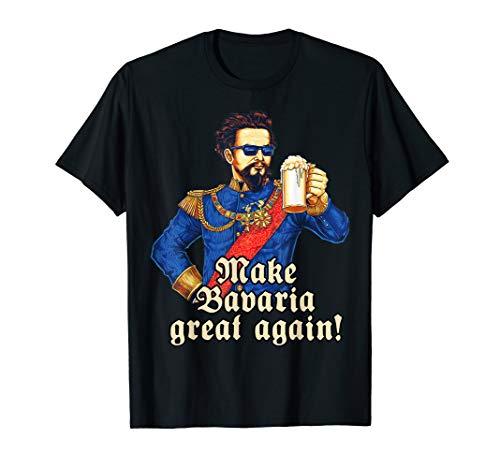 Make Bavaria great again - blauer König Ludwig Maßkrug Bier T-Shirt