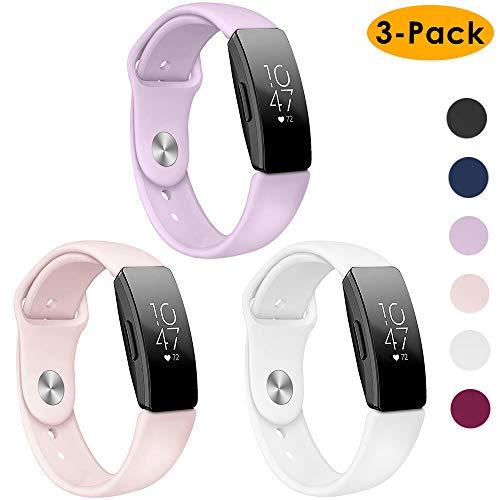 EZCO 3 unidades de correas de repuesto para reloj deportivo Fitbit Inspire HR/Inspire de silicona suave y resistente al agua